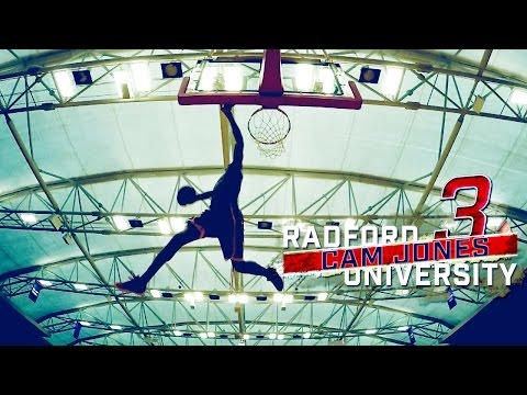 Dunks- Radford Basketball Cam Jones and Rashun Davis