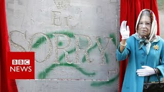 New Banksy work unveiled at 'apology' party for Palestinians - BBC News