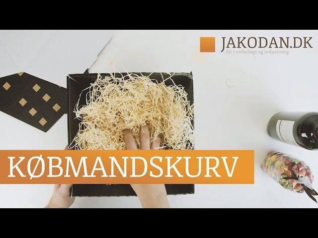 KØBMANDSKURV - Gavekurv i pap til indpakning af købmandskurve og gavekurve