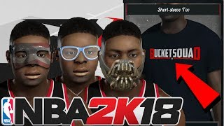 NEW ACCESSORIES IN NBA 2K18! FACE MASK, GOGGLES, CUSTOM SHIRTS, BANE MASK!