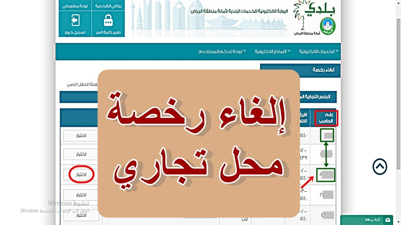 الغاء رخصة محل تجاري امانة الرياض Youtube