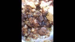 Холодные закуски мясные:Паштет из говядины с лесными грибами
