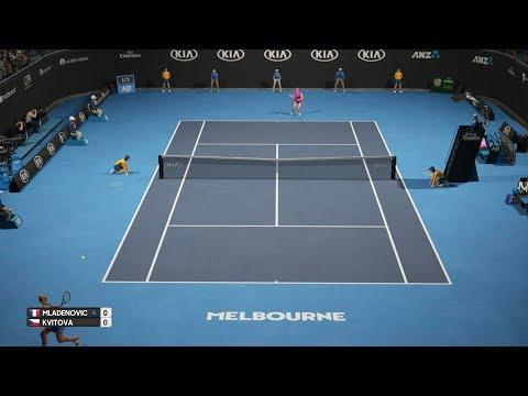 AO Tennis - Kristina Mladenovic vs Petra Kvitova - PS4 Gameplay