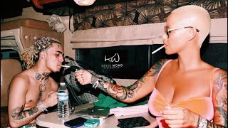 Amber Rose and Lil' Pump / Spotted Jamming to 1985   IINY. Celebrity Tea