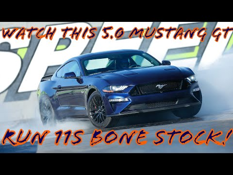 BONE STOCK 11-second Quarter-Mile (1/4 mile) Ford 5.0 Mustang GT 11.83/119.51 MPH!!!