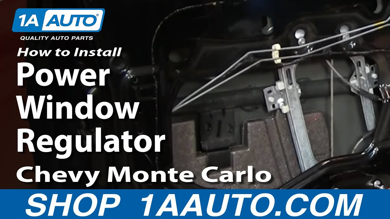 How To Install Repair Power Window Regulator Chevy Monte