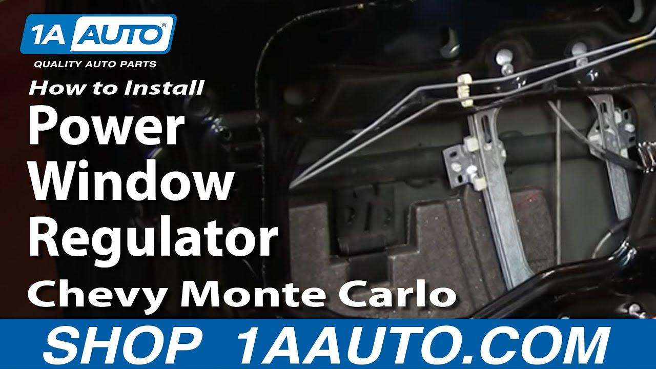 how to replace window regulators 00 07 chevy monte carlo [ 1280 x 720 Pixel ]