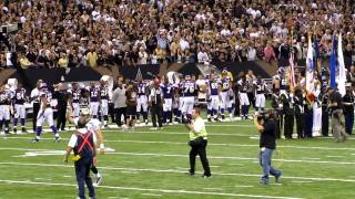 NEW ORLEANS SAINTs, WHO DAT CHANT AFTER COIN TOSS