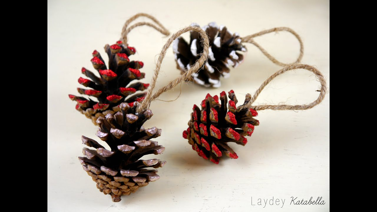 DIY Pine Cone Christmas Decorations - YouTube