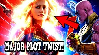 Captain Marvel PLOT LEAK! THANOS CONNECTION TO CAPTAIN MARVEL REVEALED! MAJOR FUTURE PLOT TWIST!