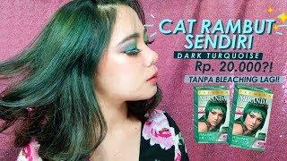 Cat Rambut Dark Turquoise Miranda Youtube