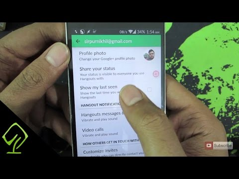 How To Enable Or Disable The Last Seen Feature On Google Hangouts On Android