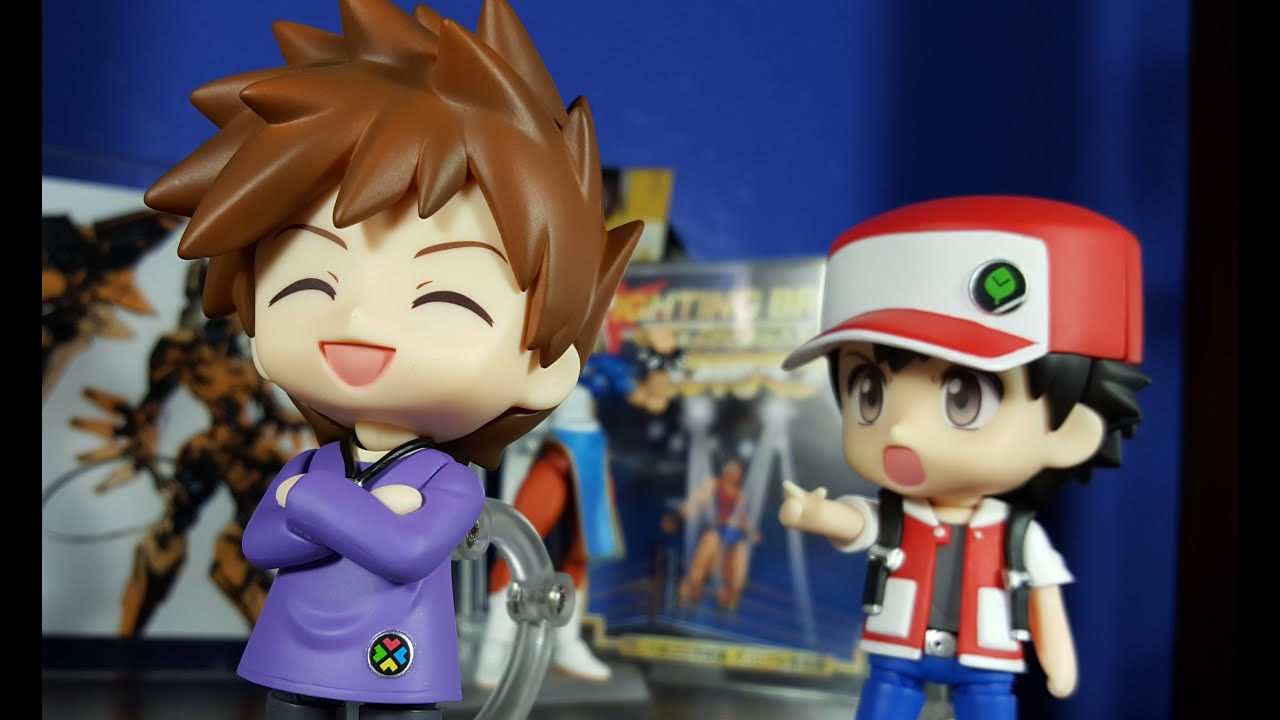 Nendoroid Pokémon Trainer Red and green (Bootleg) - YouTube
