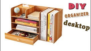 DESKTOP ORGANIZER FROM CARTON ADORABLE IDEA // Cute Organizer Tutorial