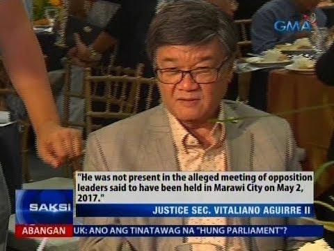 Aguirre, pinanindigang misquoted siya sa pahayag niyang nag-ugnay sa ilang mambabatas sa Marawi