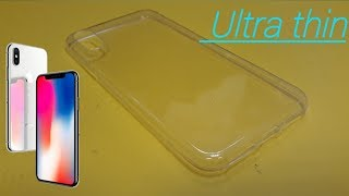iPhone x ultra thin Gel Clear case Review UK
