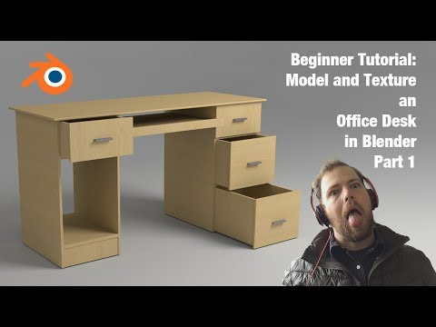 Tutorial #5: Model an Office Desk - Blender - Beginner - Part 1