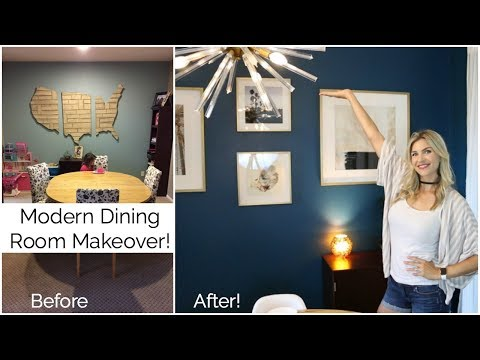 My Modern Dining Room Makeover