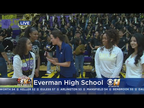 CBS 11 Pep Rally: Everman High School Press