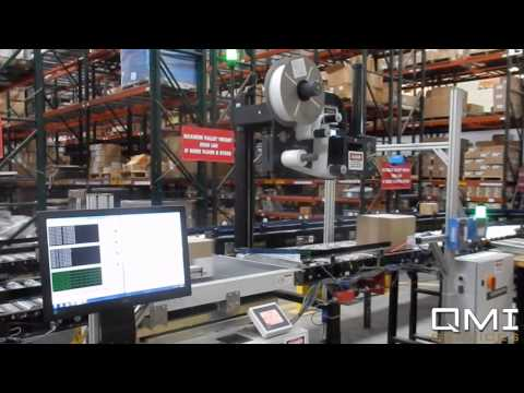 QMI Shipping System Automation. Scan, Weigh, Print Apply, Verification in 3PL Application