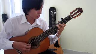 Happy New Year (ABBA) - Guitar Solo (Fingerstyle) - Guitarist Nguyễn Bảo Chương
