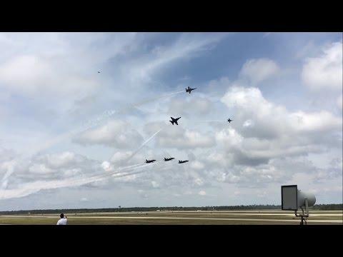 Blue Angels Practice Pensacola NAS 4/14/17