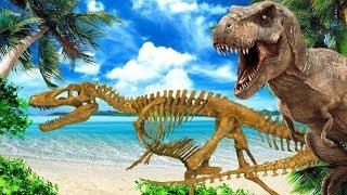 Динозавры стихий. ШОК для ТИРАННОЗАВРА. 3 серия. НЕОЖИДАННЫЙ ПОВОРОТ!!!