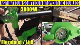 aspirateur souffleur broyeur lidl florabest de feuilles electric leaf vacuum elektro-laubsauger