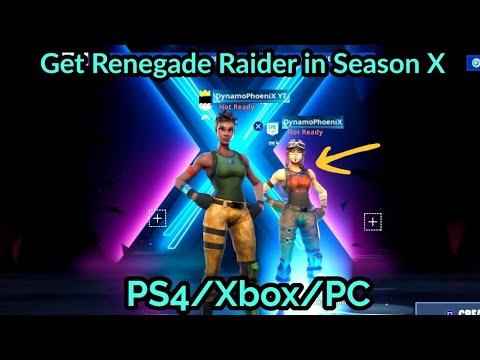 How to Get Renegade Raider in Fortnite Season X GLITCH | PS4/Xbox/PC