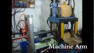 machine arm for vertical plastic injection molding machine