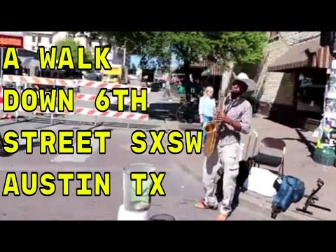 Walking Down 6th Street in Austin TX
