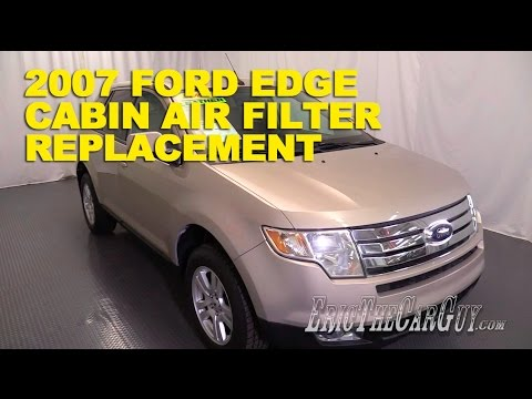 Ford Edge Cabin Air Filter Replacement Ericthecarguy Youtube