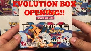 pokemon xy evolutions booster box opening part 1 pokemon tcg unboxing awesome pulls