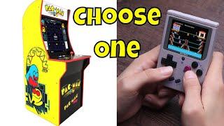 Arcade or Handheld? 1UP  Pac-Man Arcade vs The New Bitt-Boy