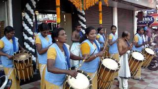 SINKARI MELAM (LADIES) at ALUVA, KERALA, INDIA HYGNES JOY PAVANA MOV09620