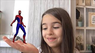 Lana pretends to play with Superheroes and Dance - Preschool toddler learn color