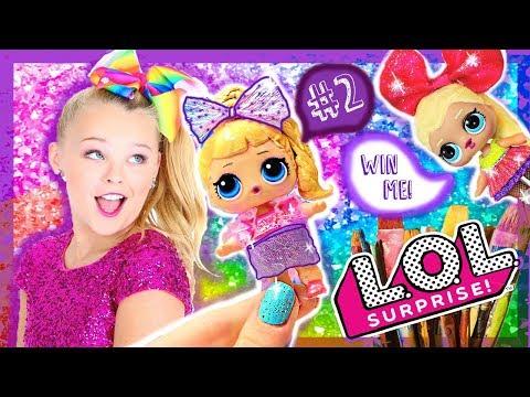 JOJO SIWA 🎀 CUSTOM LOL Surprise DOLL! GIVEAWAY! Big Sis 🎀 Lol JoJo Doll TUTORIAL / DIY !