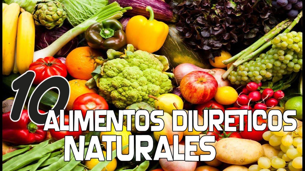 Alimentos diureticos para bajar de peso