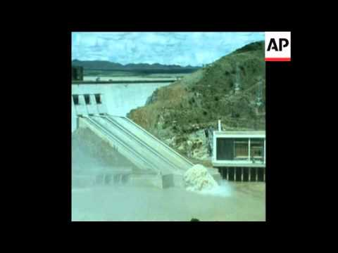 SYND 5-3-72 OFFICIAL OPENING OF ORANGE RIVER DAM IN SOUTH AFRICA