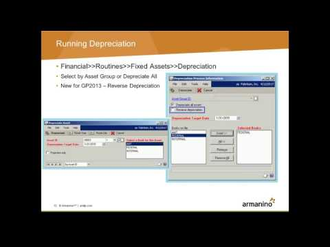 Dynamics GP Tips Tricks Fixed Assets Overview