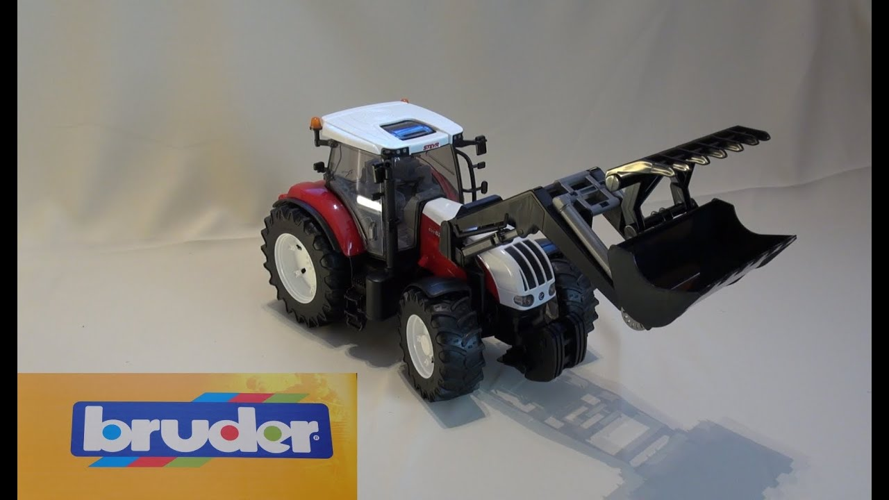 Bruder traktor profi serie steyr cvt 6230 mit frontlader autos