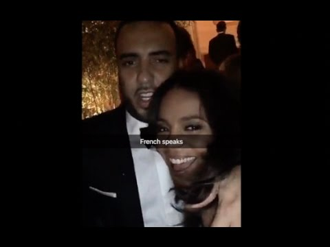 French Montana And Sanaa Lathan A Couple? At Vanity Fair Oscars Afterparty 2016