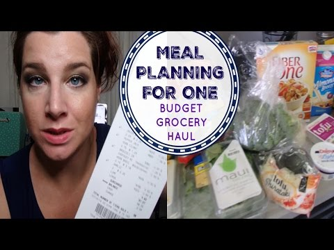 MEAL PLANNING FOR ONE | Budget Grocery Haul