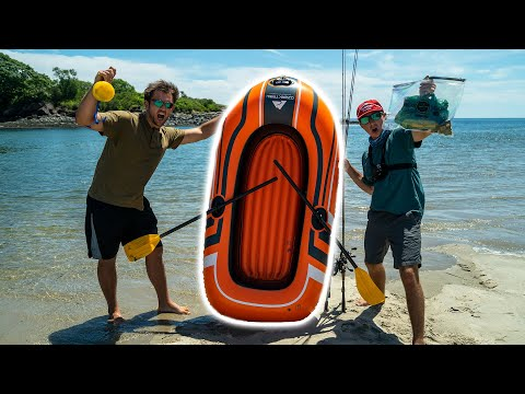 $20 Dollar Raft VS Ocean (Monster FISH)