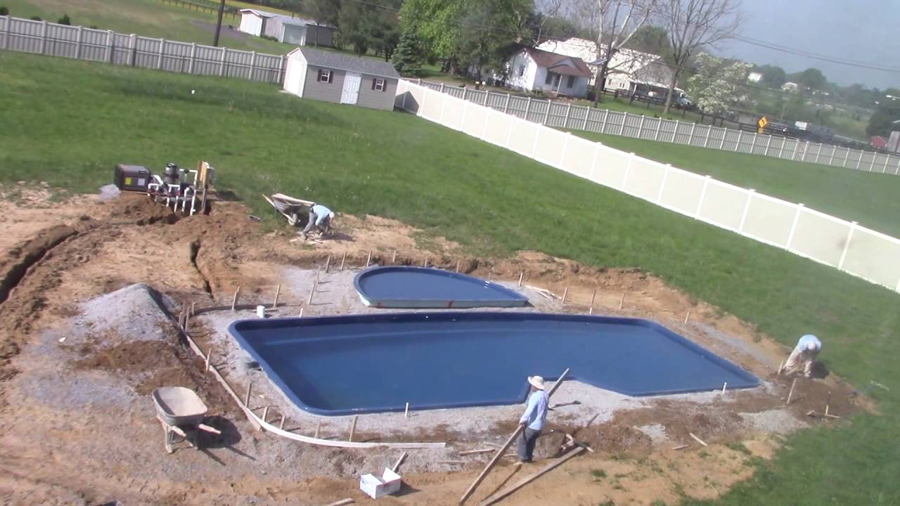 Fiberglass pool installation youtube for Fiberglass pool installation