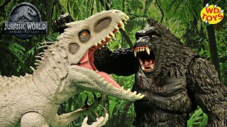 King Kong Vs Indominus Rex Super Colossal Skull Island Dinosaur Battles WD Toys Dinosaurs