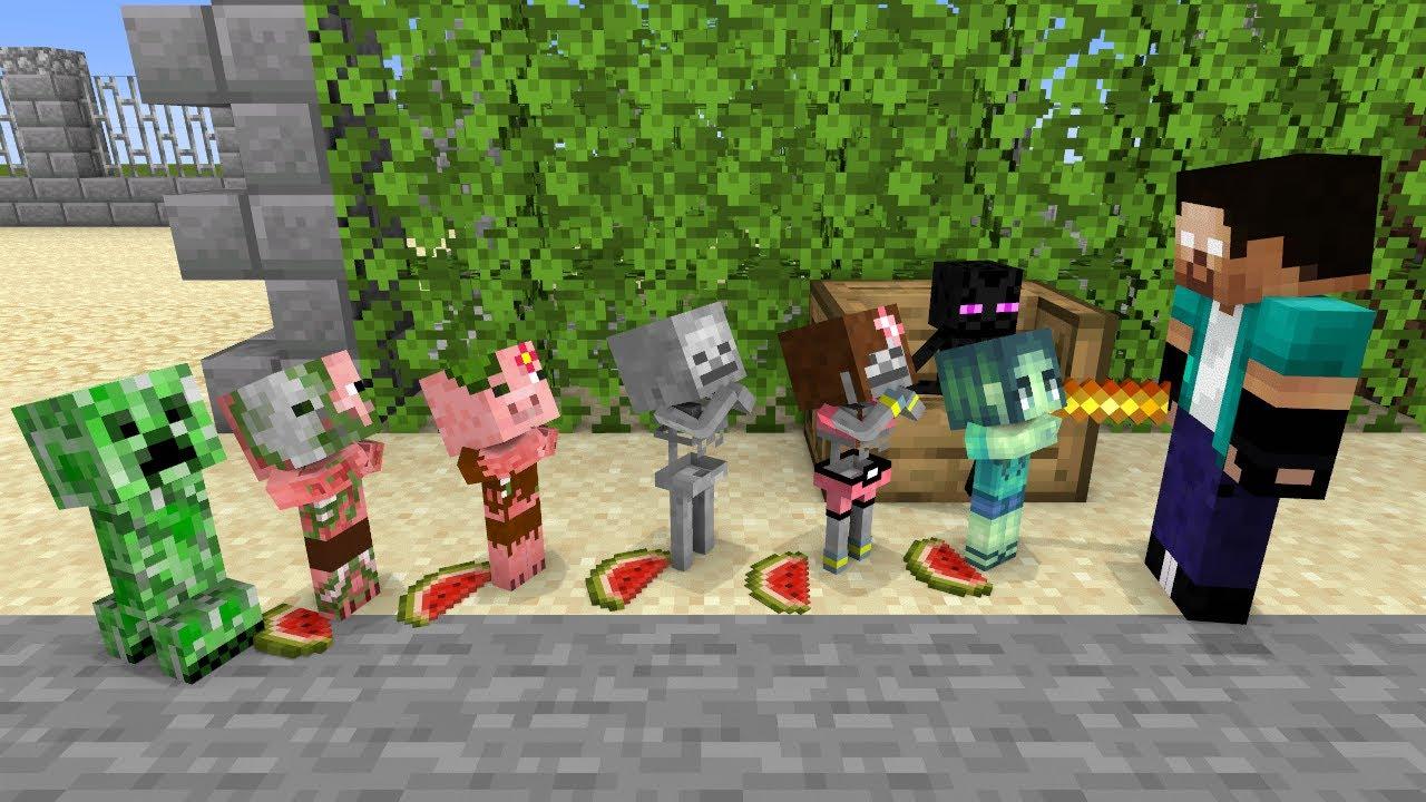 Monster School  NAUGHTY BABY MONSTER  Funny Minecraft Animation