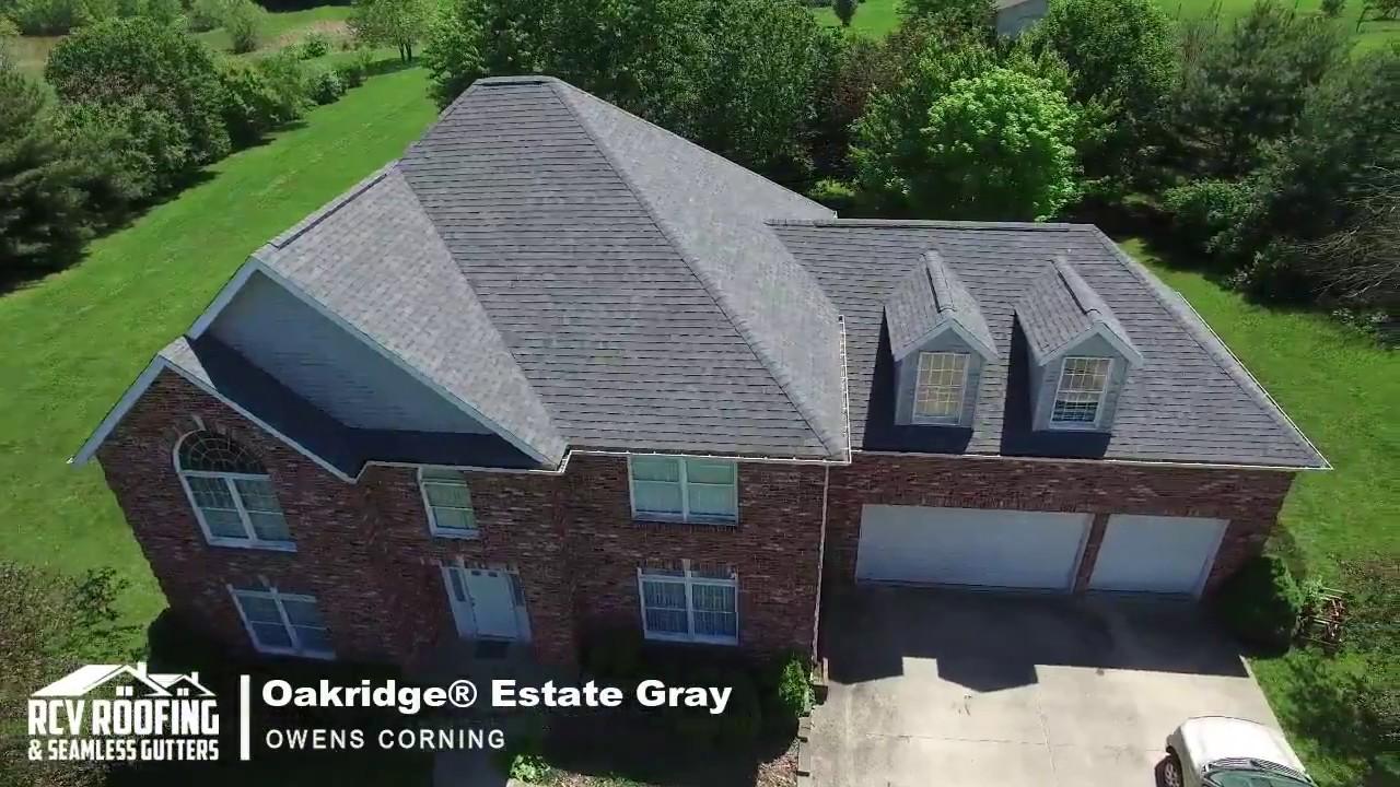 Aerial Drone Owens Corning Oakridge Estate Gray Rcv