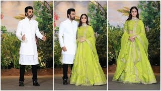 Alia Bhatt & Ranbir Kapoor At Sonam Kapoor's Wedding Reception
