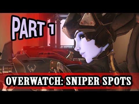 Overwatch Guide: Best Sniper Spots (720HD 60FPS) - Part 1